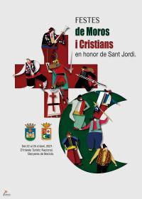 PROGRAMA DE FESTES DE MOROS I CRISTIANS EN HONOR A SANT JORDI 2021
