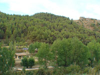 3 Vista de la zona d'acampada desde el camí